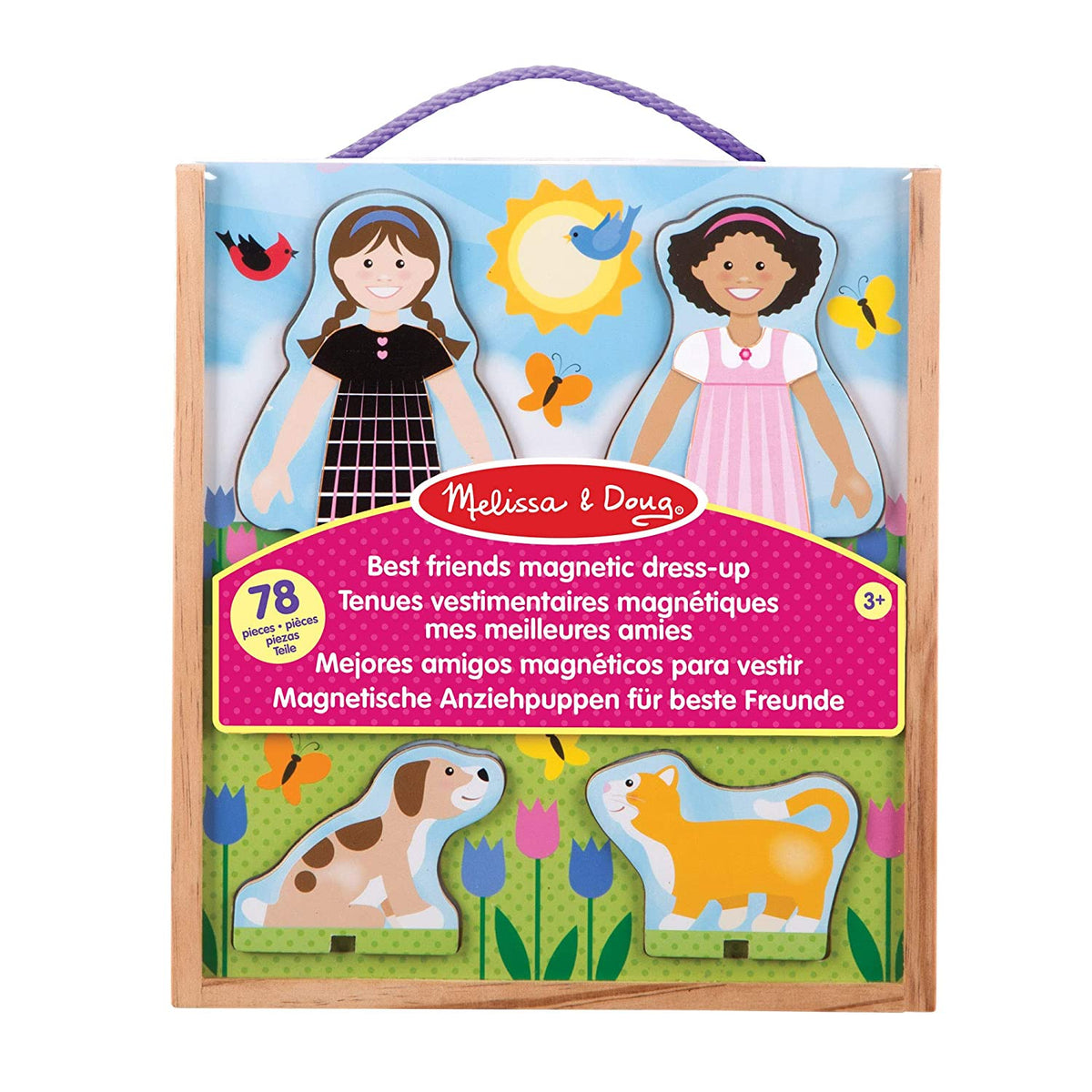 Best Friends Magnetic Dress-Up Wooden Dolls Pretend Play