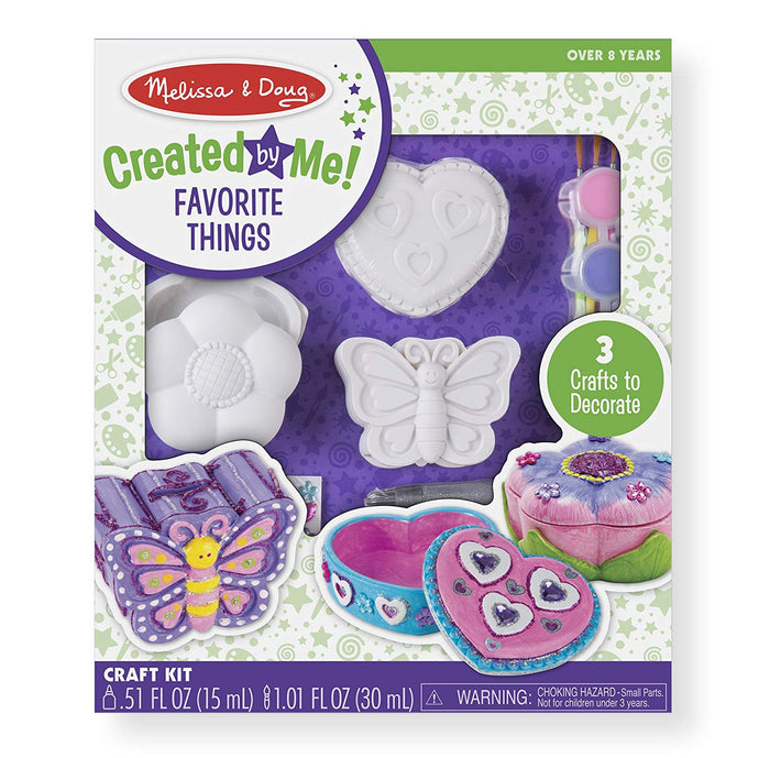 Melissa & Doug Decorate-Your-Own Favorite Things Craft Kits Set