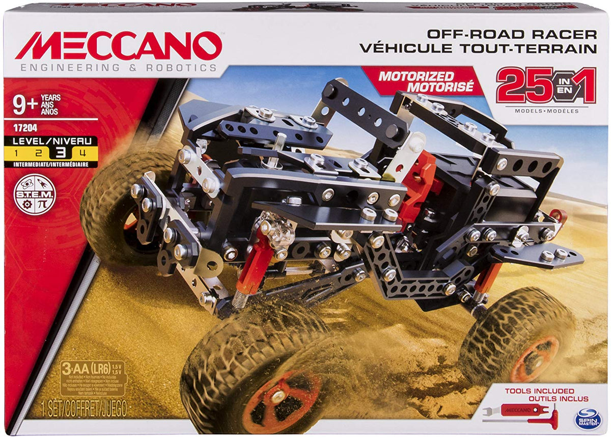 Meccano Erector 25-in-1 Model  Off Road Racer
