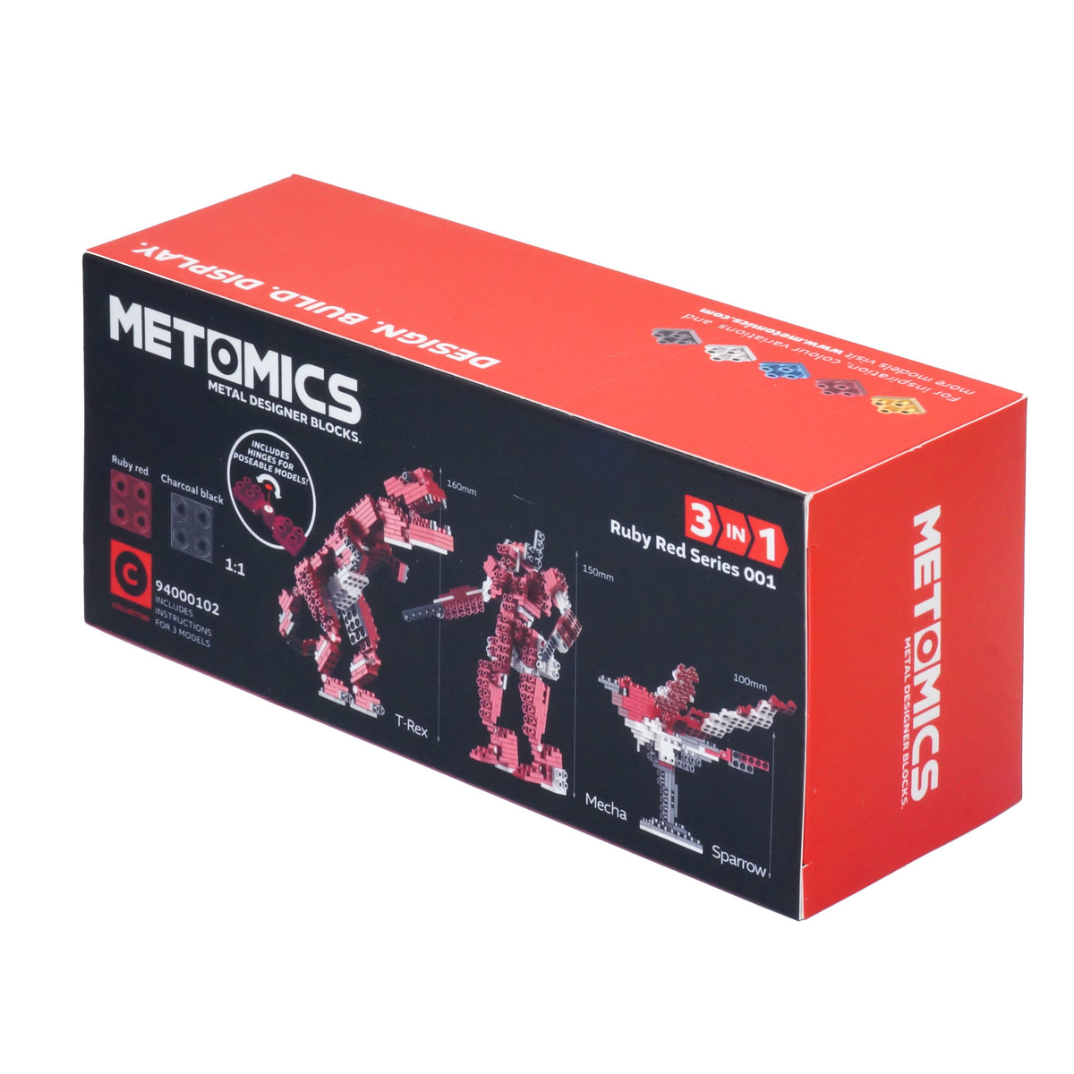 Metomics Sparrow Red 3-IN-1 290 Designer Aluminium Blocks