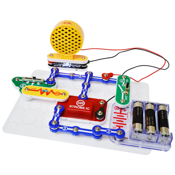 Snap Circuits Strobe Light and Sound 14 Projects