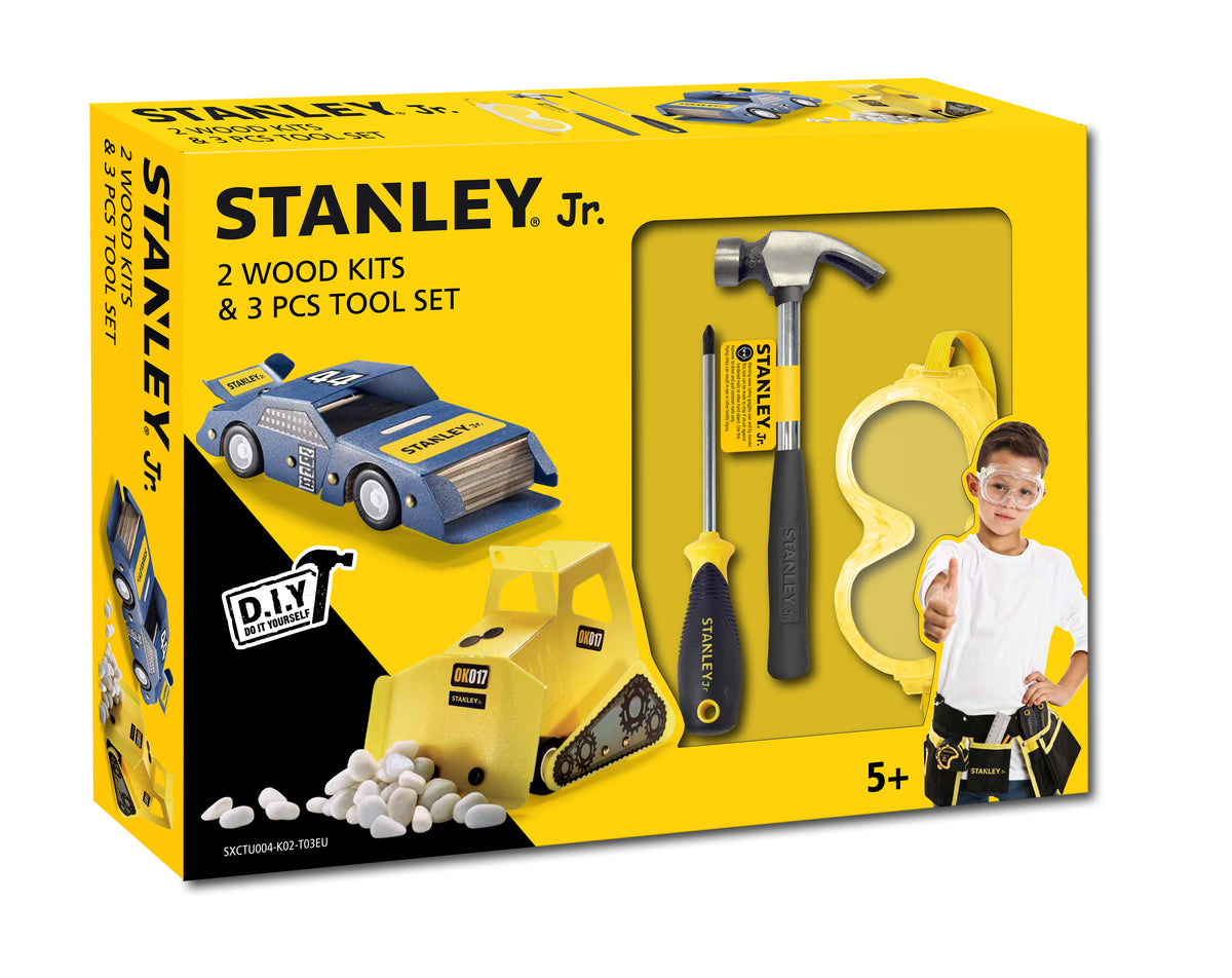 Stanley Jr. 3 Piece Tool Set 2 Wood Kits