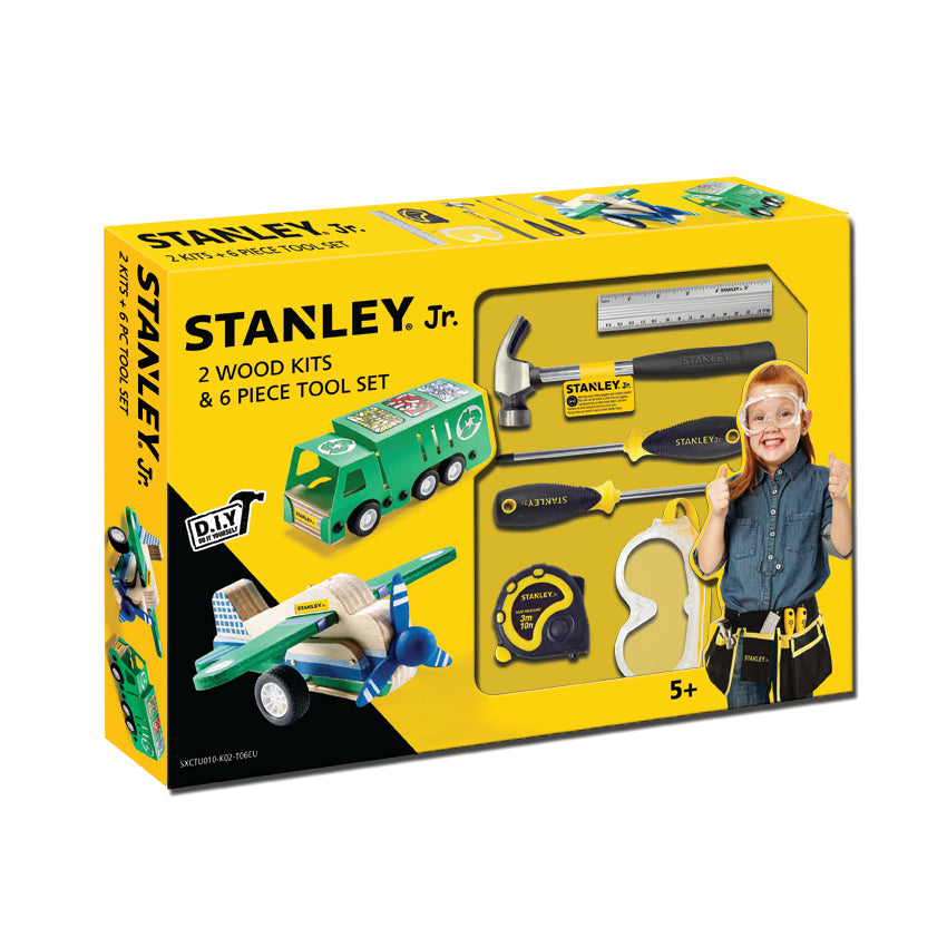 Stanley Jr 6 Piece Tool Set 2 Wood Kits