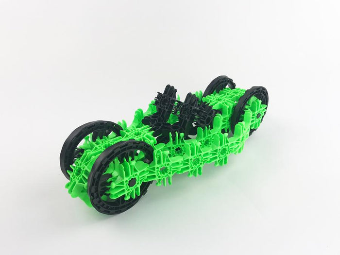 Lux Blox Motorcycle Car 2-in-1 80 Pc Set