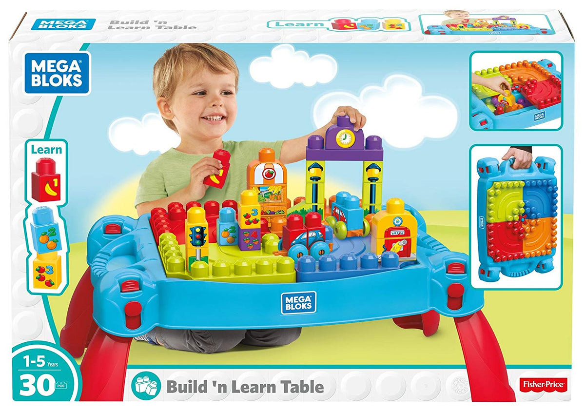 Mega Bloks Build N Learn Set Table Blue