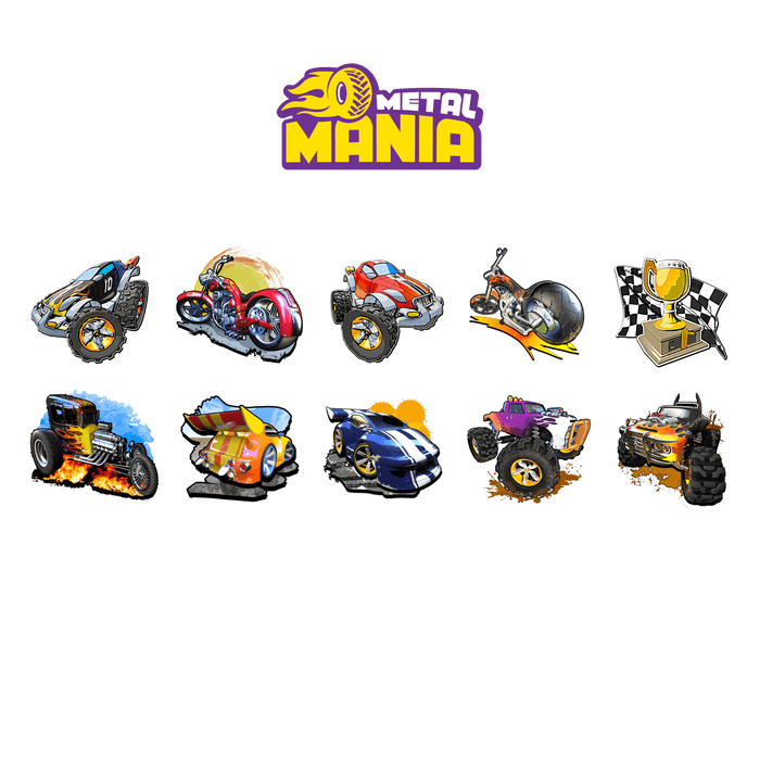 Holotoyz Metal Mania Temporary Tattoos