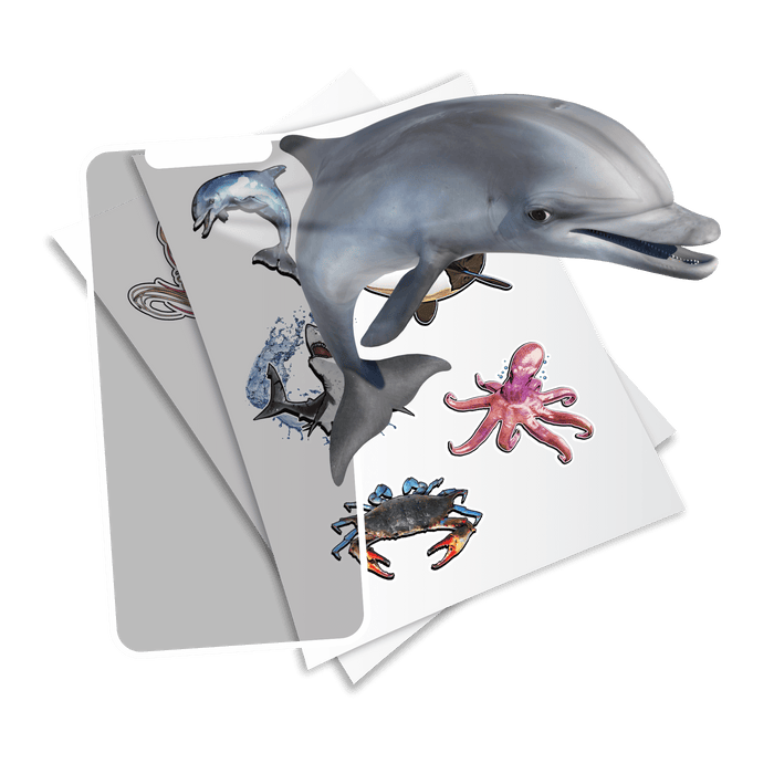 Holotoyz Super Sea Creatures Peelable Stickers