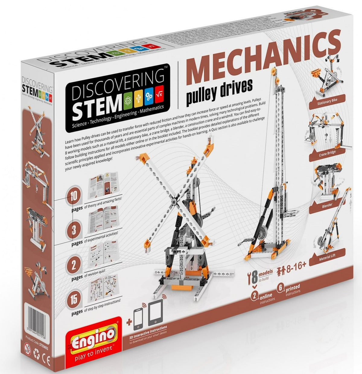 Engino Stem Mechanics Pulley Drivers