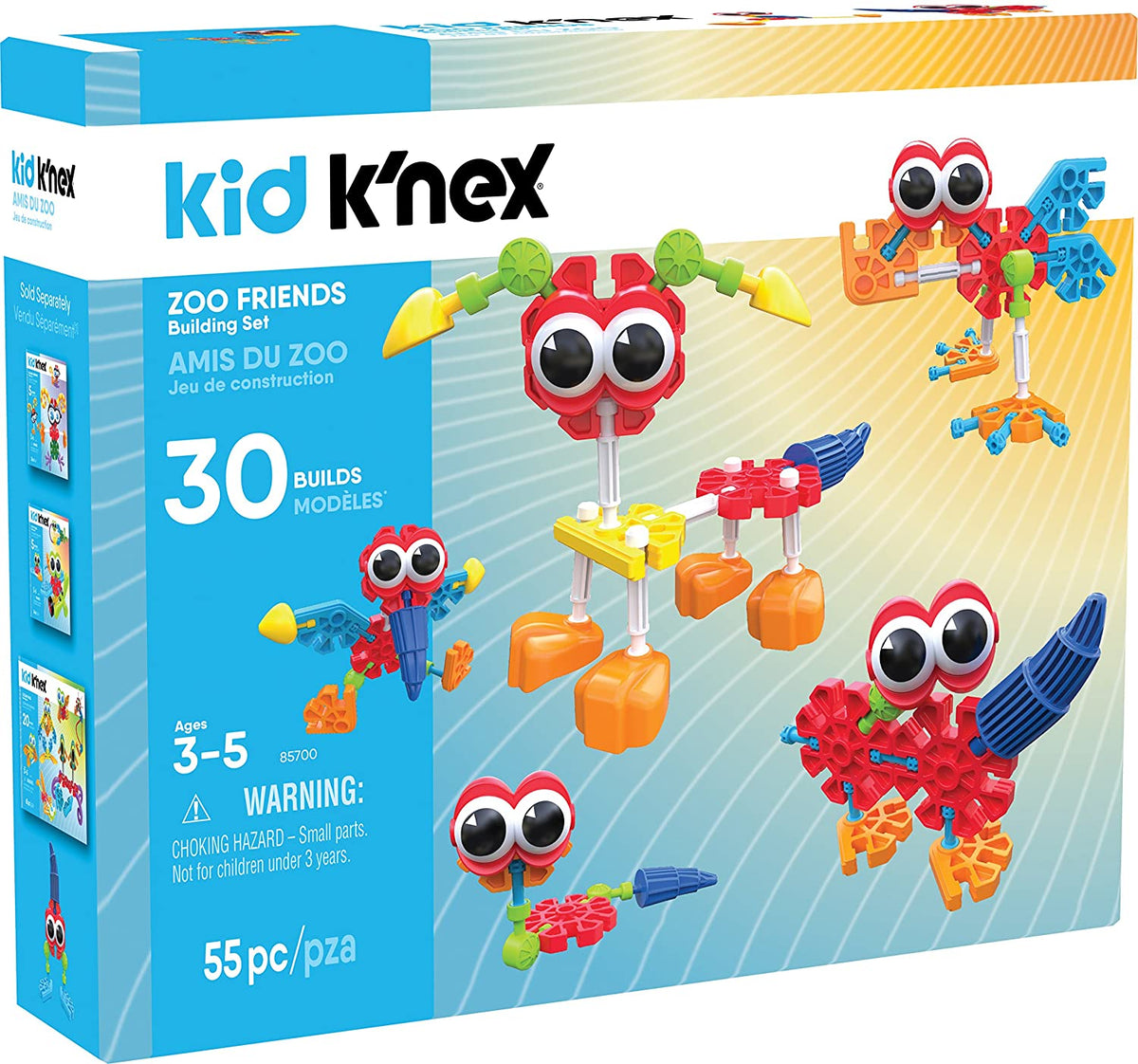 Kid Knex Zoo Friends 55 Piece