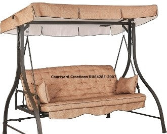 Courtyard Creations® Northcrest RUS428F Patio Swing Products | Swing Cushions USA