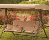 Home Depot / Hampton Bay / S010047 3 Person Patio Swing Products | Swing Cushions USA