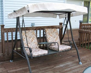 Menards Sienna Two Person Chair Patio Swing Products Swing Cushions
