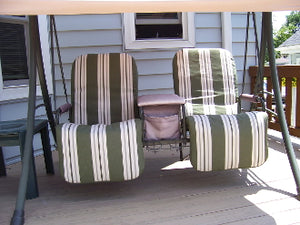 Grayson 2 Seat Recliner S04148 Patio Swing Products | Swing Cushions USA