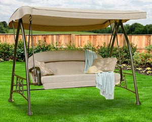 Sears Garden Oasis 3-Person Patio Swing Products | Swing Cushions USA