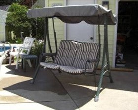 Two Person Chair Style Model S03204 Patio Swing Products | Swing Cushions USA