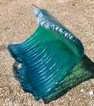 12 Inch Heavy Building Wave | FREE SHIPPING - Goodwin Glassworks Hunter Glass  Glass Wave Art