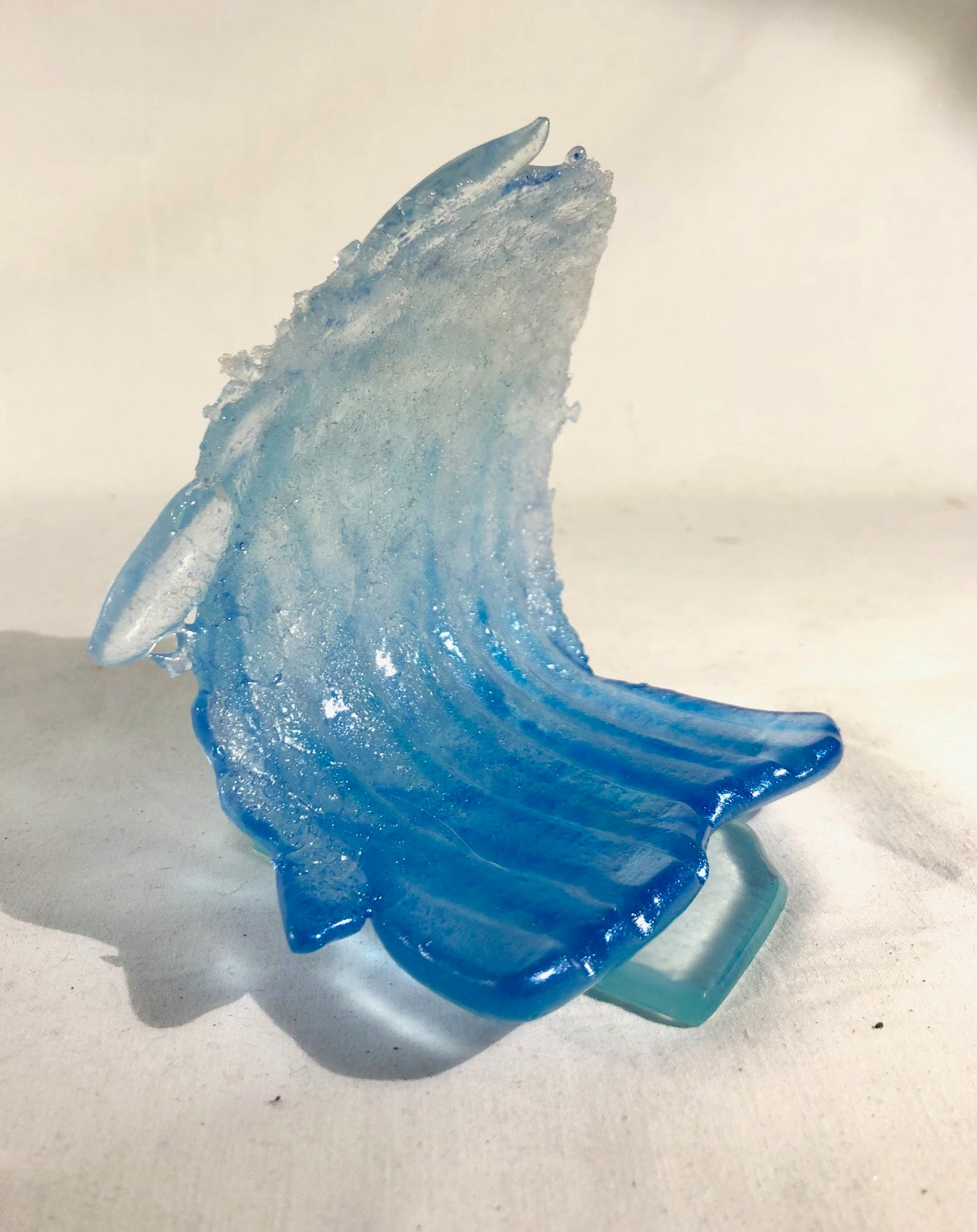 Small Foamy Glass Waves - Goodwin Glassworks Hunter Glass  Glass Wave Art