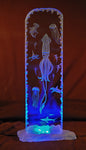 Ocean Life LED  Scene - Goodwin Glassworks Hunter Glass  Glass Wave Art