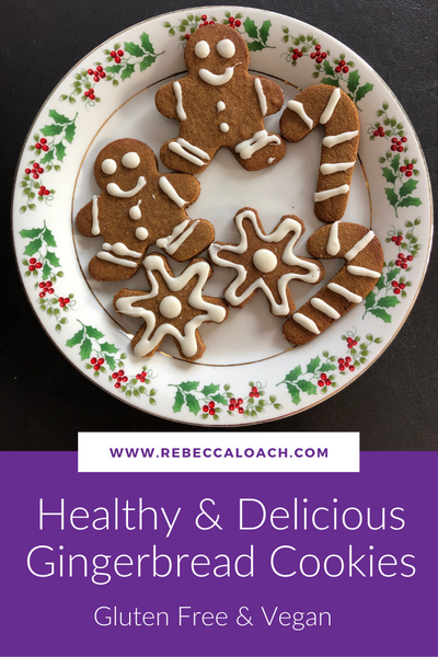 Healthy & Delicious Gingerbread Cookies - Vegan & Gluten Free!