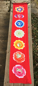 Chakra Banner Wall Hanging - Lotus, Red