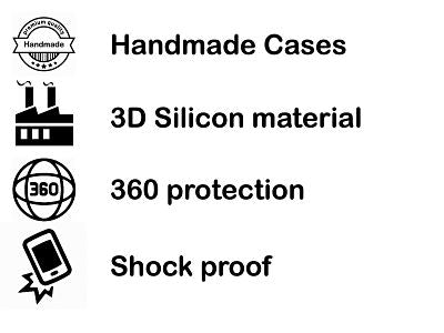 Shockproof silicone protective transparent Case for Samsung S10