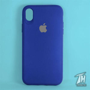 Dark Blue Silicone Case for Apple iphone Xr