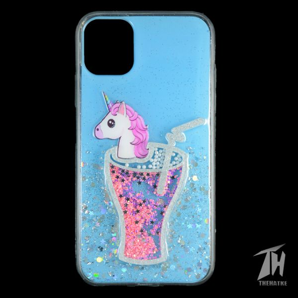 Blue 3D Unicorn Silicone Case For Apple iphone 11