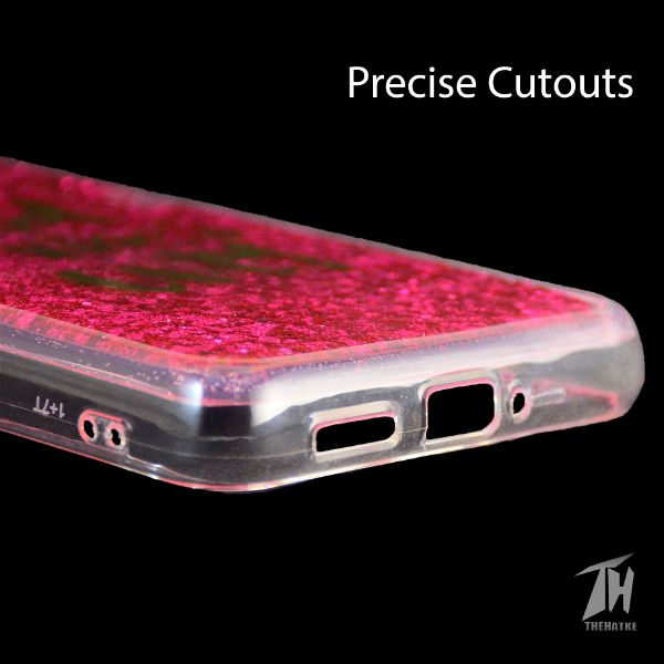 Dark Pink Good Vibes Glitter Case For Oneplus 7t