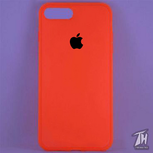 Red Silicone Case for Apple iphone 8 plus