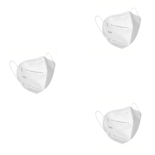 N95  5 Layer Reusable Face Mask (Pack of 3)