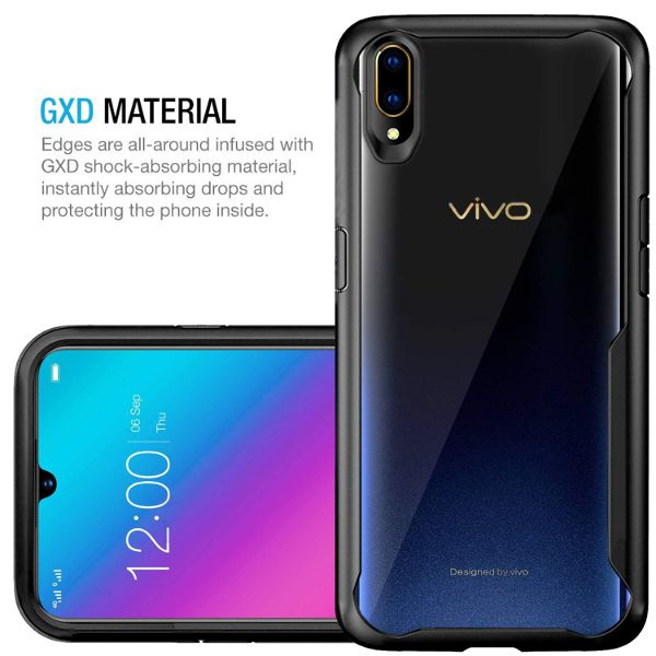 Shockproof silicone protective transparent Case for Vivo V11 pro