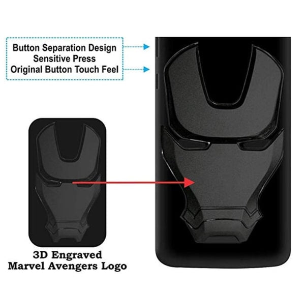 Ironman Engraved logo silicon Case