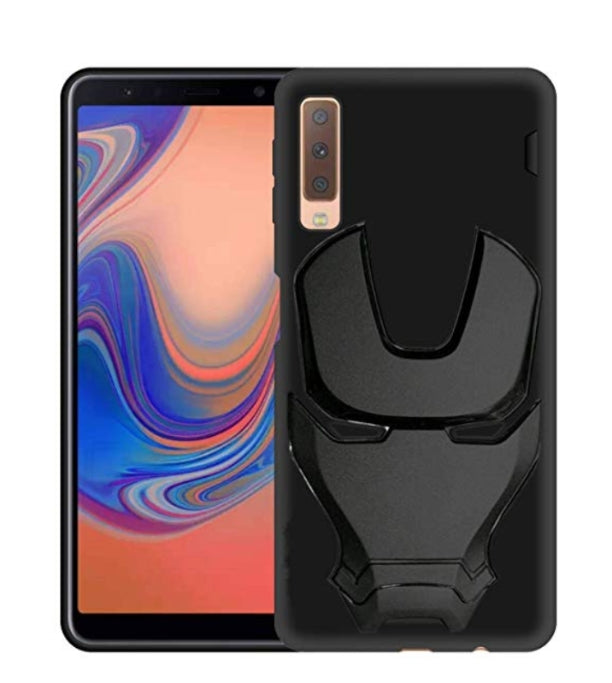 Ironman Engraved Silicone Case for Samsung A7 2018