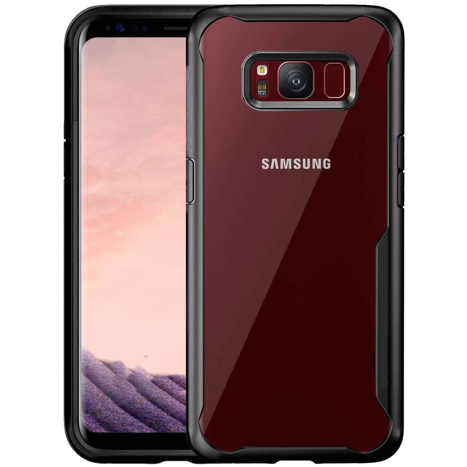 Shockproof Transparent Silicone Case for Samsung S8 plus