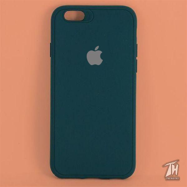 Dark Green Silicone Case for Apple iphone 8