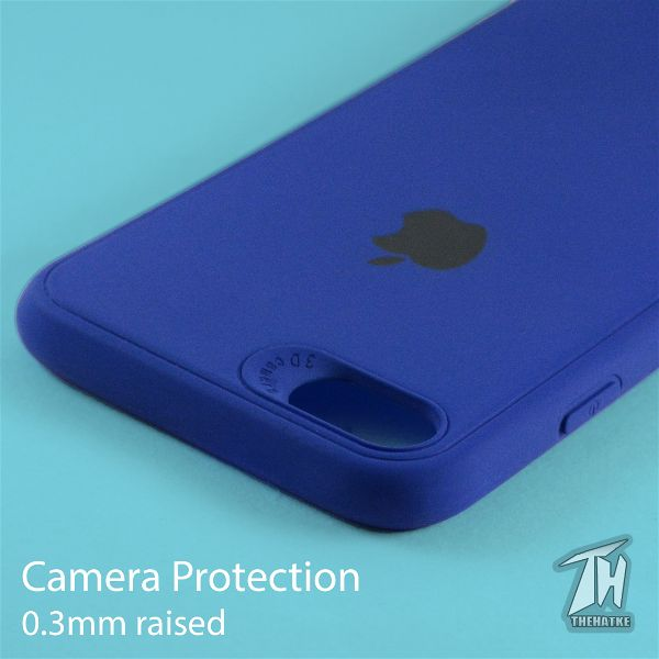 Dark Blue Silicone Case for Apple iphone 8