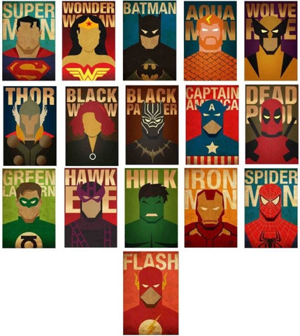 All Superheroes 16 POSTERS COMBO