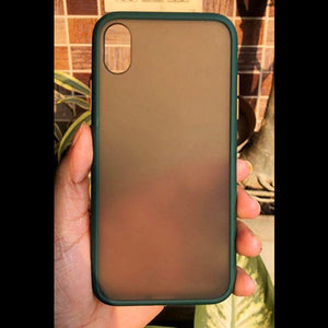 Dark green Smoke Silicone Protection case for Apple iphone Xr
