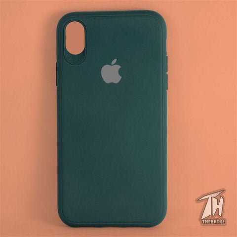 Dark Green Silicone Case for Apple iphone Xr