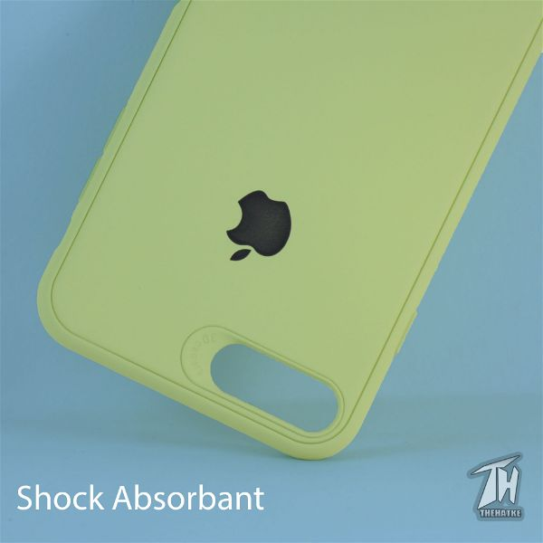 Light Green Silicone Case for Apple iphone 8 plus