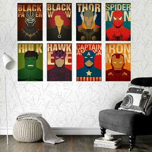 AVENGERS 8 POSTERS COMBO