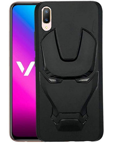 Ironman Engraved logo silicon Case for Vivo v11 pro