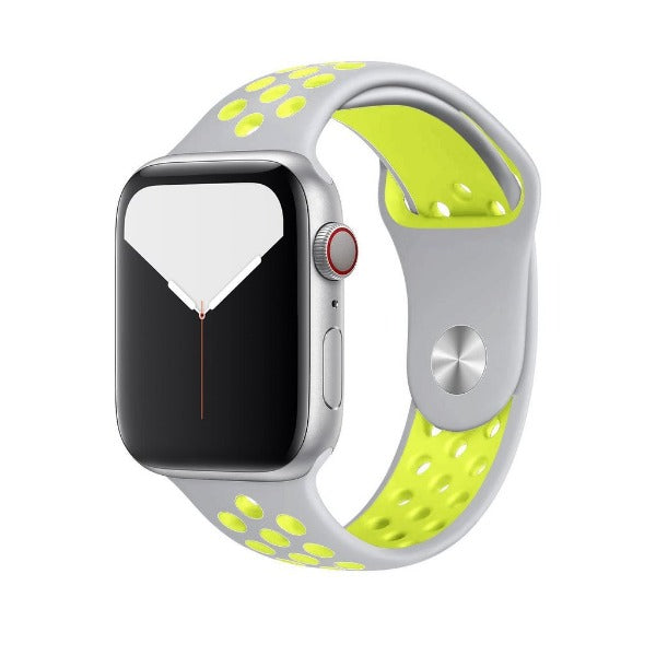 Grey Neon Dotted Silicone Strap For Apple Iwatch (38mm/40mm)