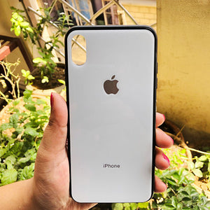 White mirror Silicone Case for Apple iphone Xs max
