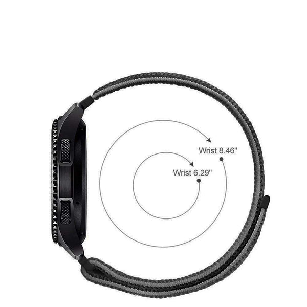 Black Nylon Strap For Smart Watch 20mm
