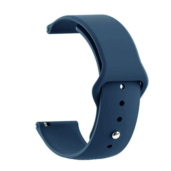 Blue Plain Silicone Strap For Smart Watch (22mm)