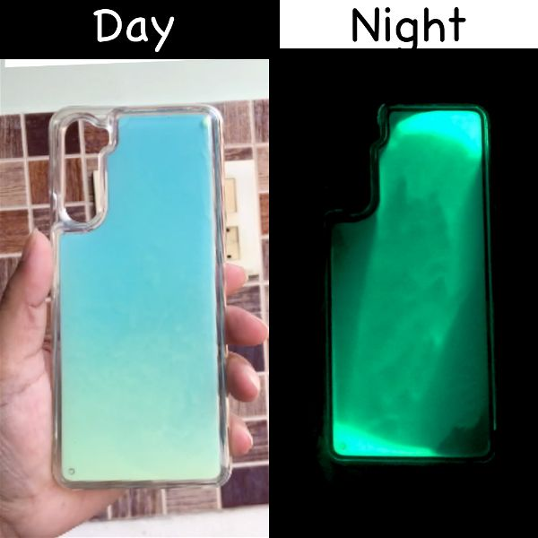 Blue Glow in Dark Silicone Case for Oneplus Nord