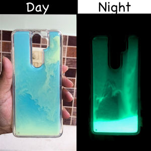 Blue Glow in the dark case for Redmi note 8 pro