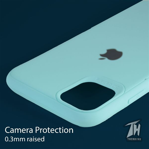 Light Blue Silicone Case for Apple iphone 12