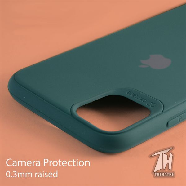 Dark Green Silicone Case for Apple iphone 11 pro max
